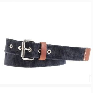 J. Crew Men's Web Belt in Navy Blue size 34